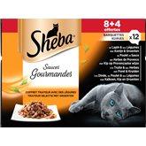 Barquettes pour chats Sheba Volaille en sauce - 12x85g