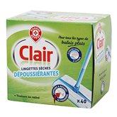 Lingettes Clair Dépoussiérantes - x40