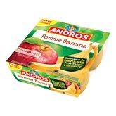 Dessert pomme/banane Andros 4x100g