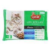 Effilés poissons en sauce Lycat 4x85g