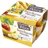 Charles & Alice Spécialité de pommes bananes vanille les 8 pots de 97 g