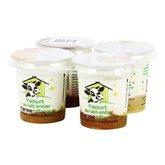 Yaourts brassés sur lit fruits sucrés et aromatisés - 4x125g