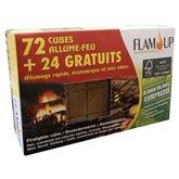 Allume tous feux bois compresse Flam'Up cubes x96 off.spéc.