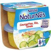 Nestlé Bols Naturnes Nestlé Courgette Dinde 8mois 2x200g