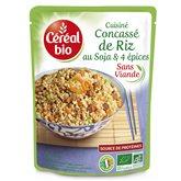 Céréal Bio Concassé de riz  4 épices - Prêt en 2 min - 220g