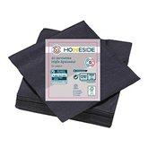 Homeside Serviettes 3 plis Homeside noires - 40cm - x20