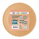 Homeside Assiettes plates kraft Homeside 18cm - x50