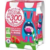 Les 300 & Bio Yaourt a boire  x4 - 640g