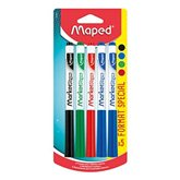 Maped Feutres pour ardoise  x4 coloris assortis + 1 grt