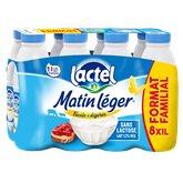 Lactel Matin léger de Lactel 1.2%mg bouteille - 8x1L
