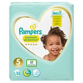 Pampers Couches Pampers Premium Protection T5 : 11/16kg - x35