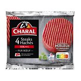 Charal Steak haché Charal 15%mg - 4x100g